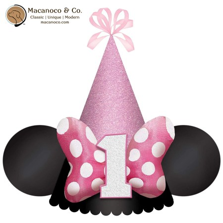 251128 Disney Jr Minnie Mouse Cone Hat One Bow 1