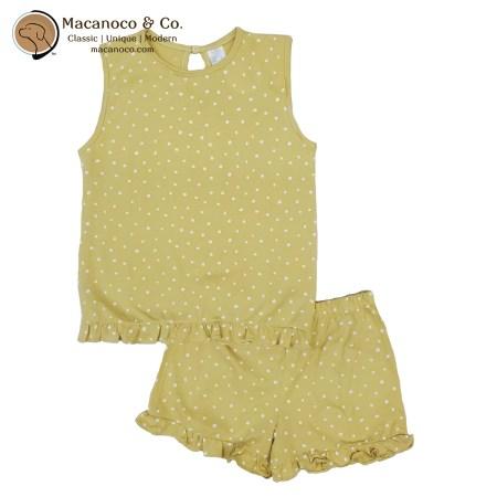 71229 pijama-nina-dots Ocre 1