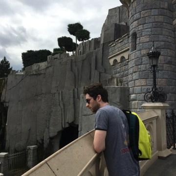Alex at Sleeping Beauty's castle