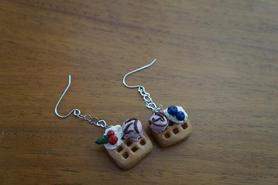 Waffle Earrings