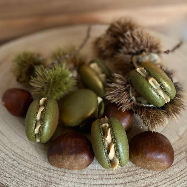 Kastanien-Macarons