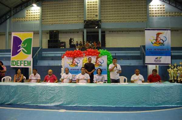 Na abertura do Jemar´s Prefeito Kerginaldo Pinto leva sua palavra de apoio e incentivo aos atletas dos Jogos Estudantis