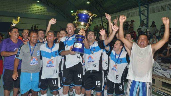 Em 2012 Macau se consagra campeão da 1ª Copa Intertv Cabugi de Futsal, agora parte em busca de novos títulos