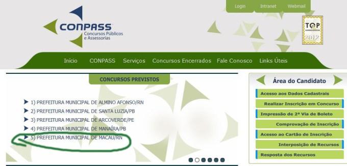 No site da empresa consta Macau em concursos previstos