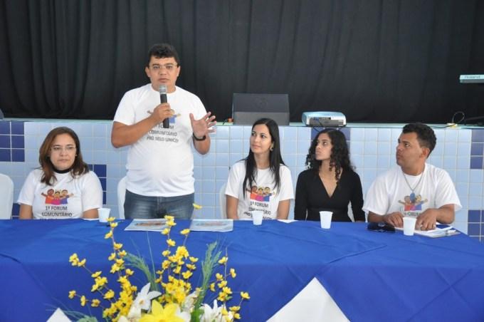 Prefeito Kerginaldo Pinto na abertura do 1º Fórum Comunitário do selo Unicef