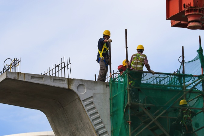 LRT construction works