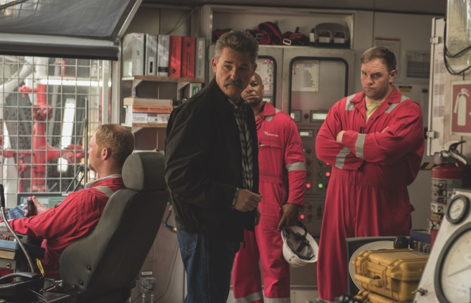 "Kurt Russell, center, in a scene from, ""Deepwater Horizon"""