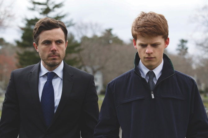 "Lucas Hedges (right), and Casey Affleck in a scene from ""Manchester By The Sea"""