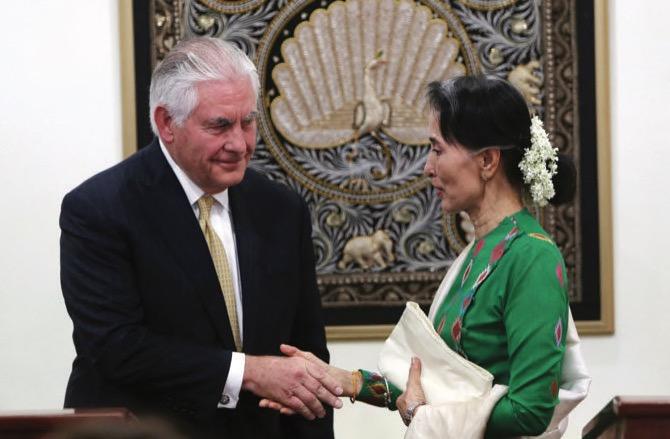 Myanmar's Suu Kyi says she 'hasn't been silent' over Rohingya