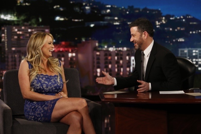 Stormy Daniels deflects Jimmy Kimmel's questions on alleged Trump affair