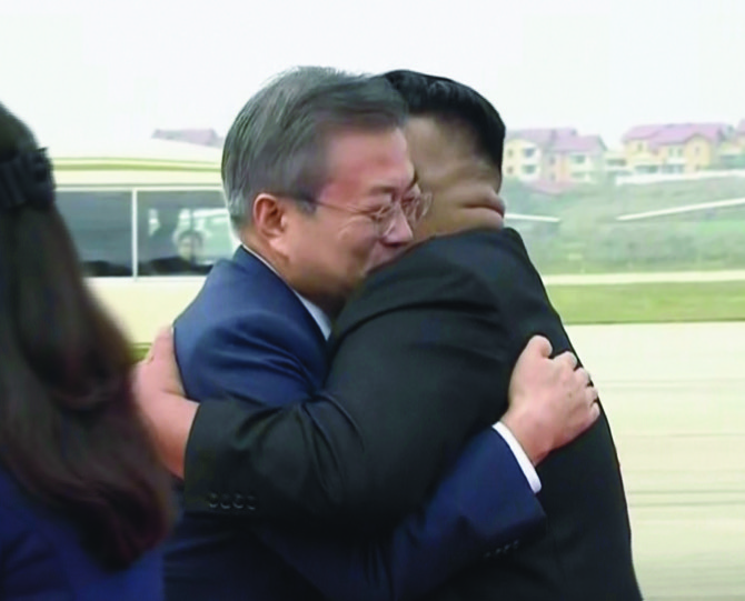 Hero's welcome for Moon Jae-in carries Pyongyang's hope of nuclear breakthrough
