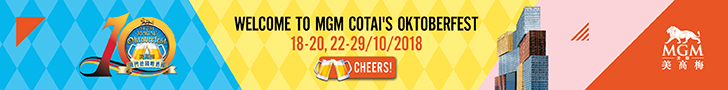Welcome to MGM Cotais Oktoberfest 18-20, 22-29/10/2018