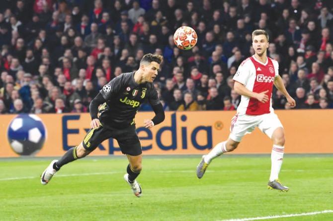 Ronaldo nets 125th Champions League goal as Juve draw at Ajax