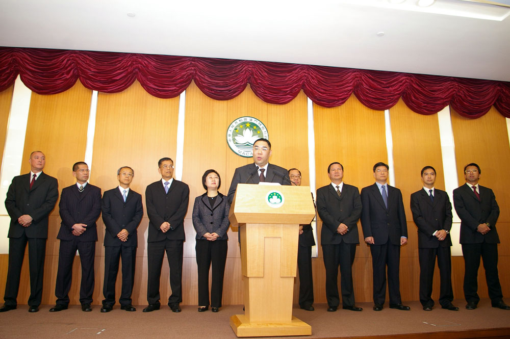 President Hu Jintao ask Macau officials for good governance