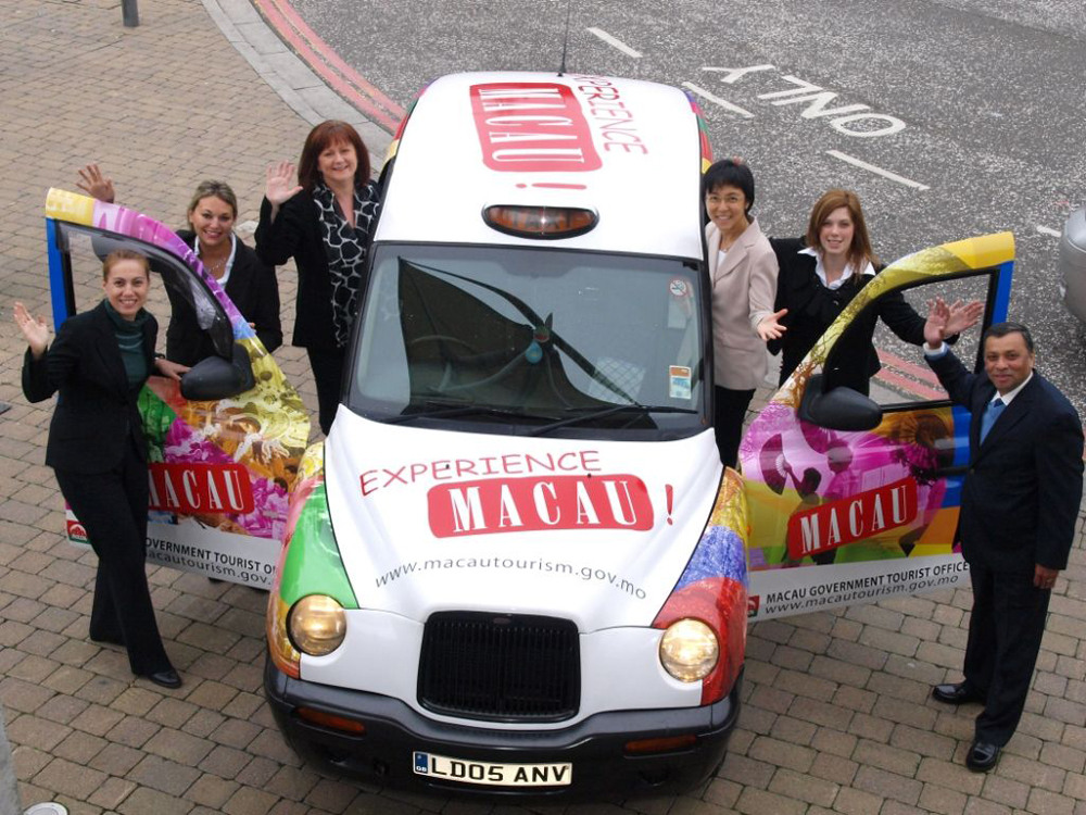 Macau promotes itself in London with photographs of territory on taxis