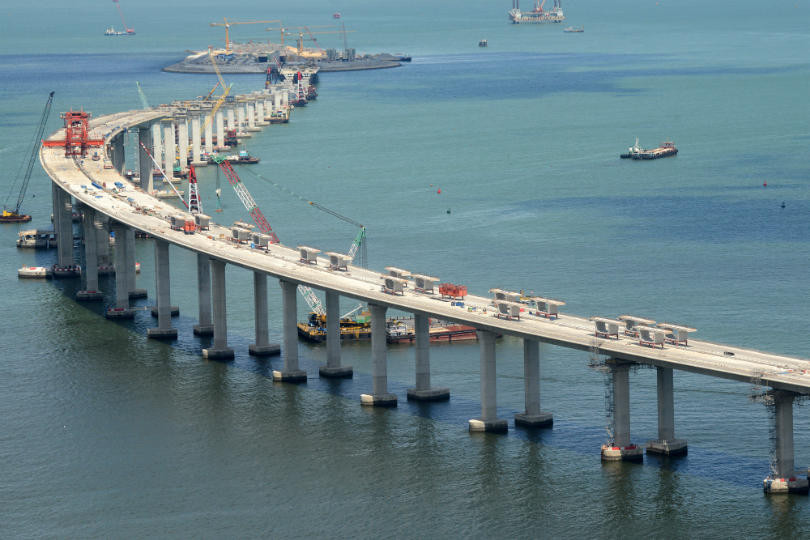 hk-zhuhai-macau bridge construction