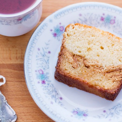Blondie cake de limón crujiente