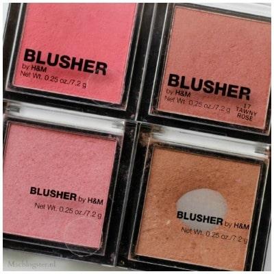 H&M blushers die ik graag gebruik