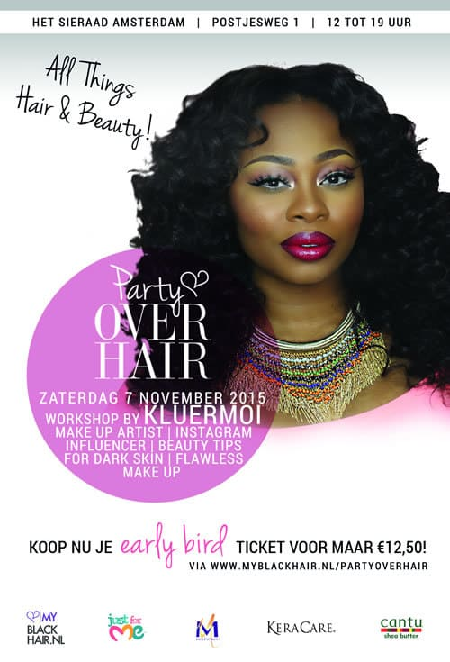 Party over hair beauty event