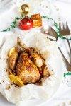 Galletto al cartoccio con melagrana e arancia - Natale