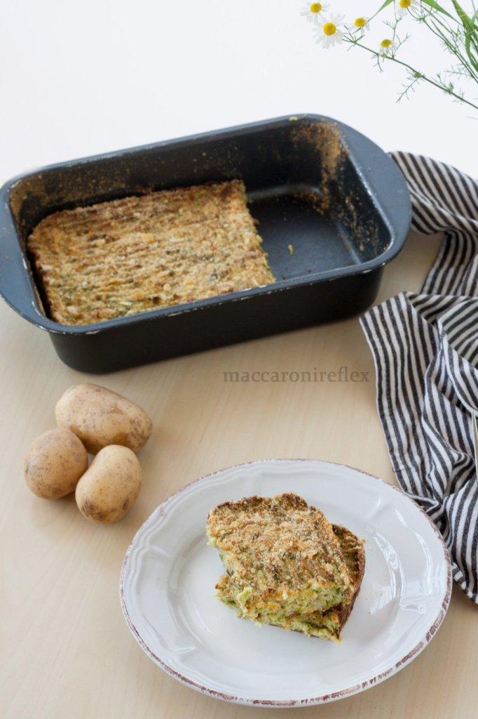 Polpettone ligure di fagiolini e patate ricetta genovese
