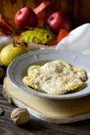 Ravioli di zucca e ricotta con salsa di noci alla ligure