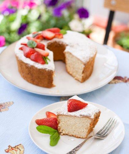 Angel food cake soffice