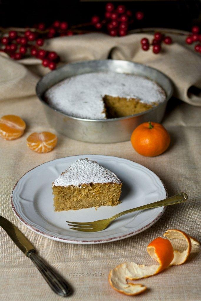 Torta con farine di castagne e clementine frullate