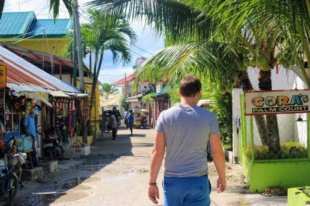 Walking through Moalboal