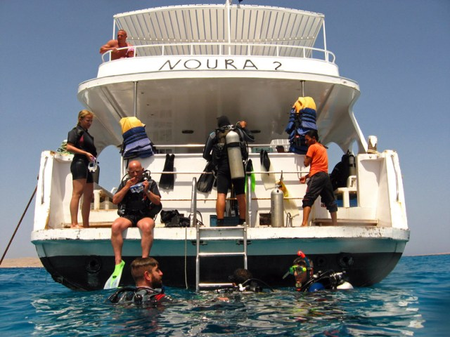 Our dive boat on the second day of diving