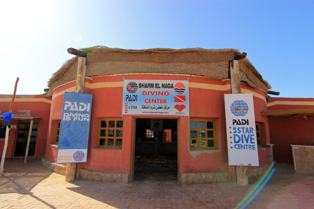 The dive shop at Sharm el Naga