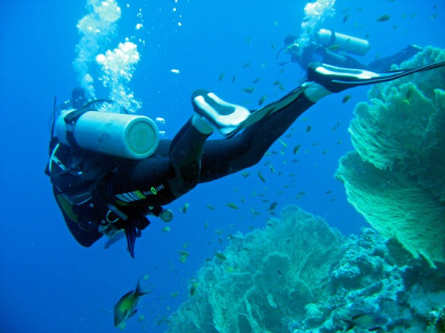 Carl diving at Sharm el Naga, Egypt