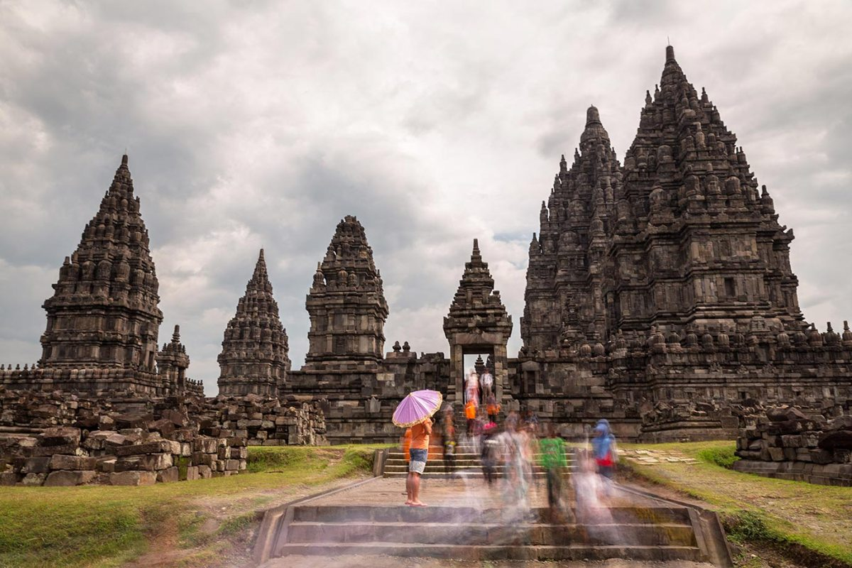 Getting creative at Prambanan in Indonesia