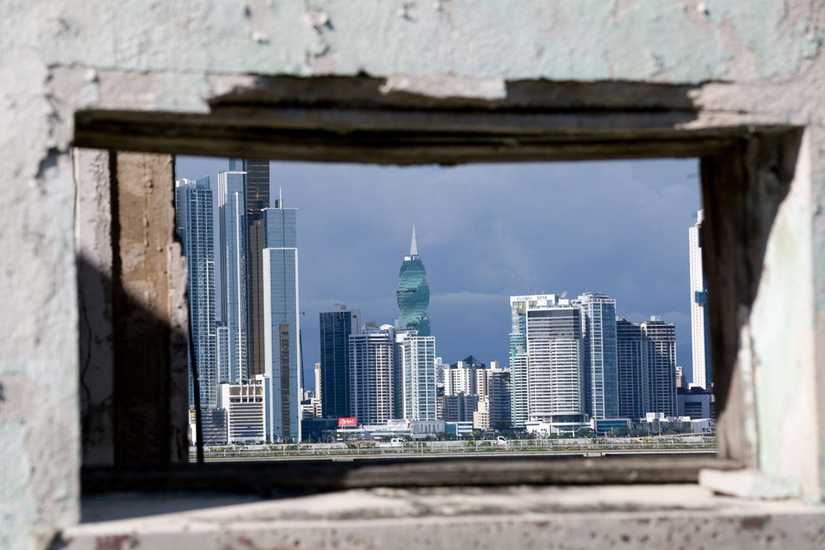 The view of Panama City from Casco Veijo, the old quarter
