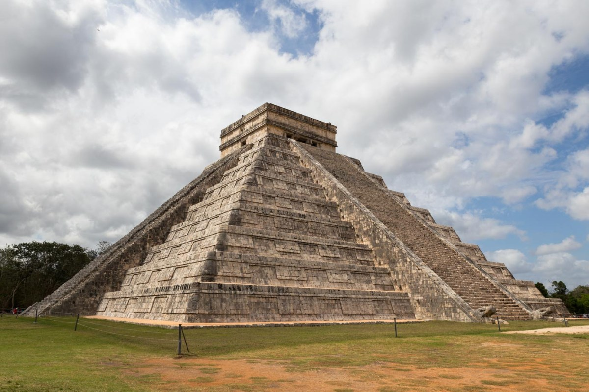 The great pyramid at Chichen Itza, Mexico