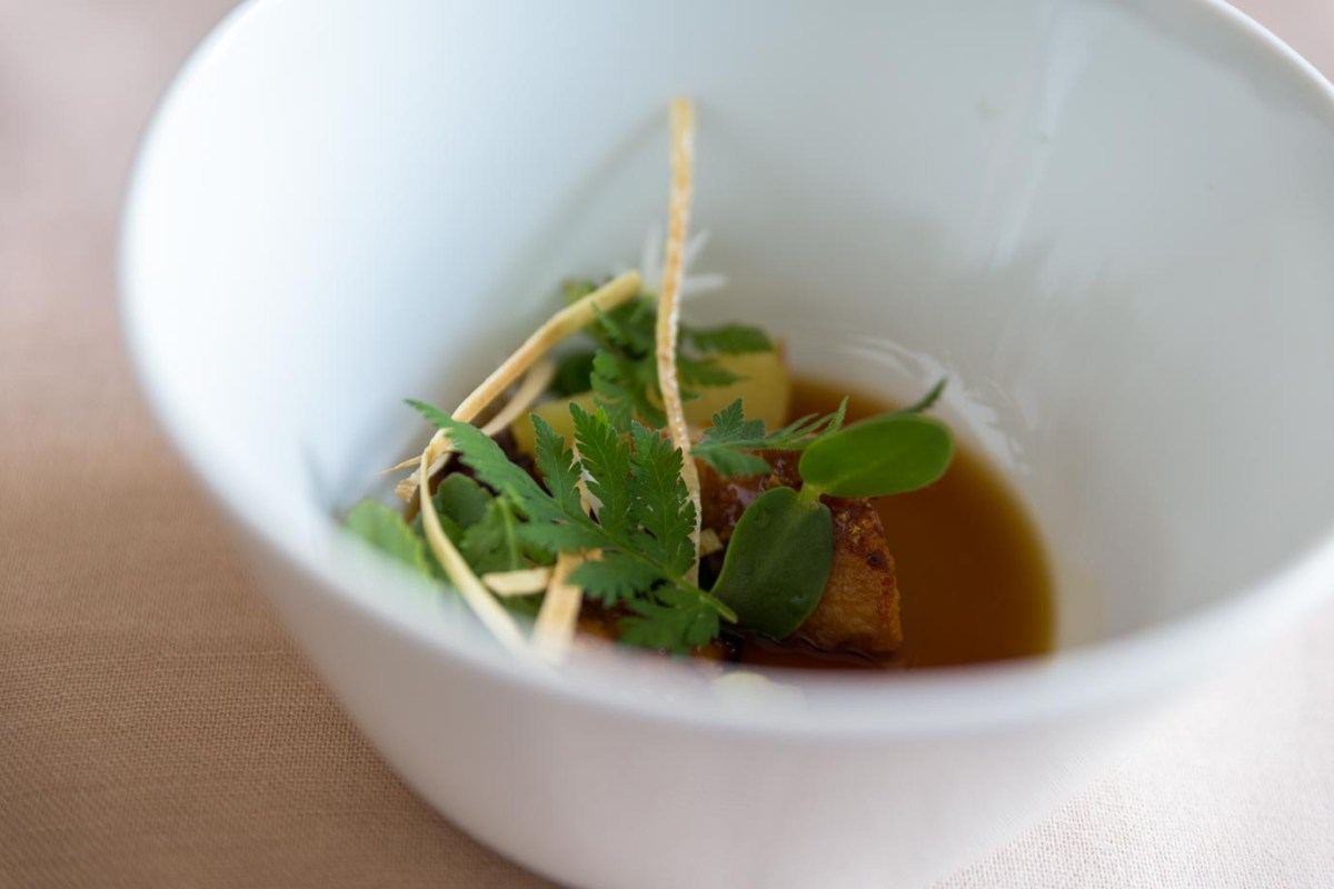 A forraged soup from Olo
