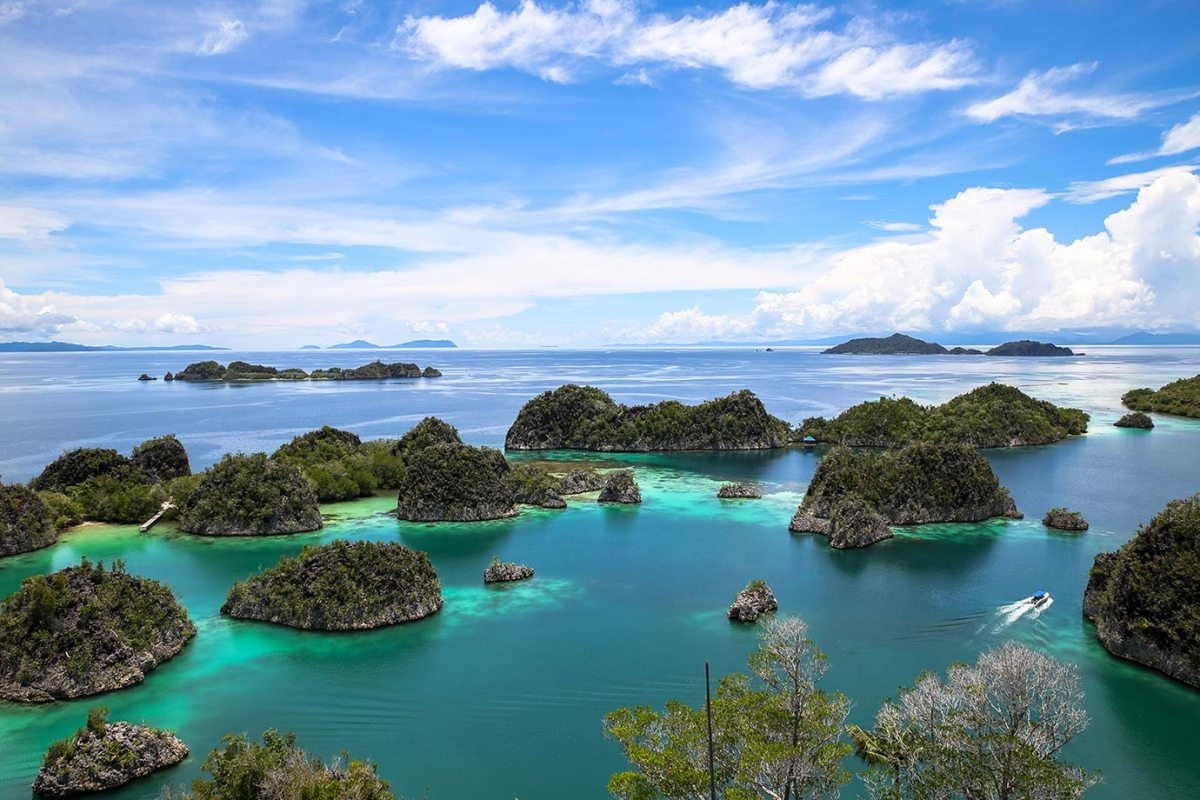 The view of Piaynemo in Raja Ampat, Indonesia