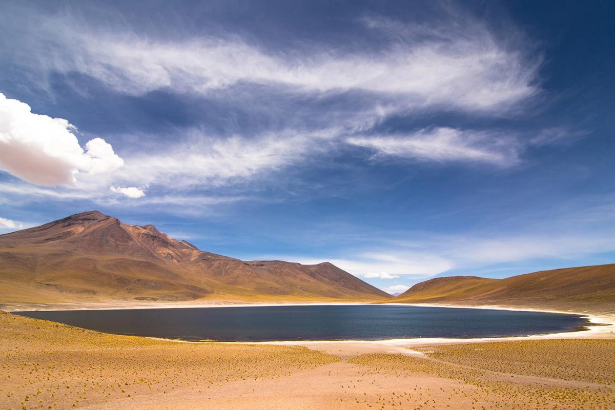 Misquanti Lagoon in the Atacama Highlands, Chile