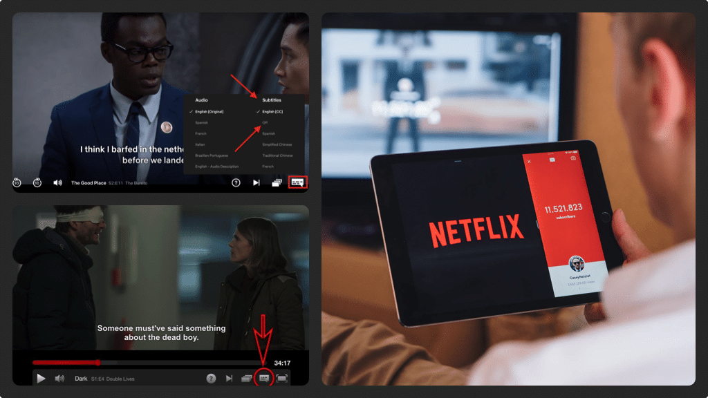 Netflix Subtitles Collage 1