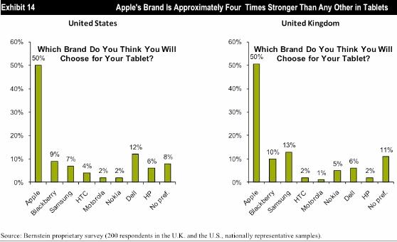Bernstein Research Survey: Apple iPad dominates