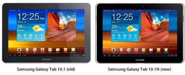 Samsung Galaxy Tab 10.1 vs. Samsung Galaxy Tab 10.1N Germany