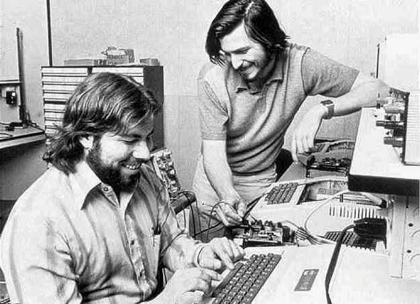 Steve Wozniak, Steve Jobs, and the Apple II