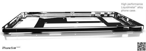NAK Phone Design, Antoine Brieux, Liquidmetal iPhone concept