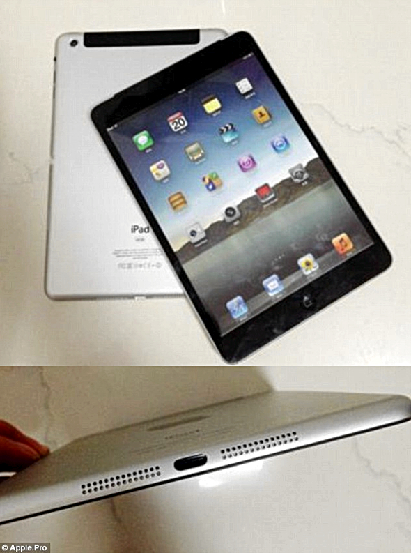 iPad mini leaked photos via Apple.pro