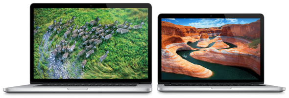 Apple's 15-inch and 13-inch MacBook Pro with Retina display