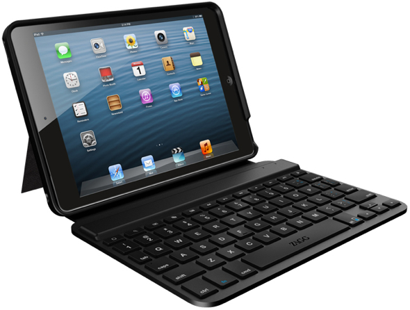 The ZAGGkeys MINI 7 is a durable folio designed specifically around the iPad mini and highlighted with ZAGG's award-winning keyboard technology. (Photo: Business Wire)