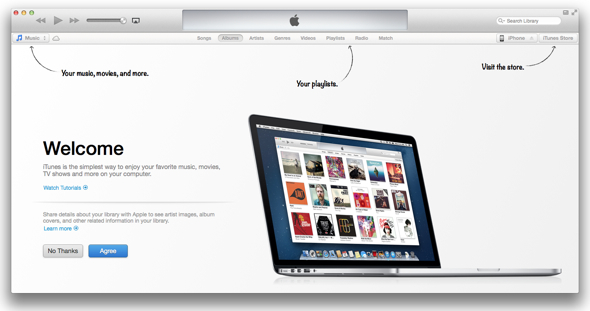 iTunes 11 Welcome Screen