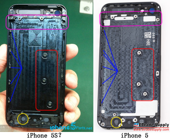iPhone 5S purported casing photo