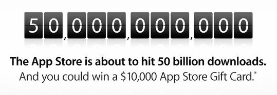 App Store 50 billion downloads
