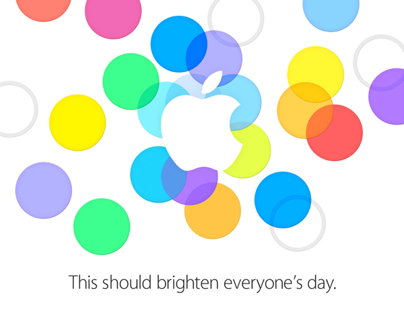 Apple's September 10, 2013 special media event invitation